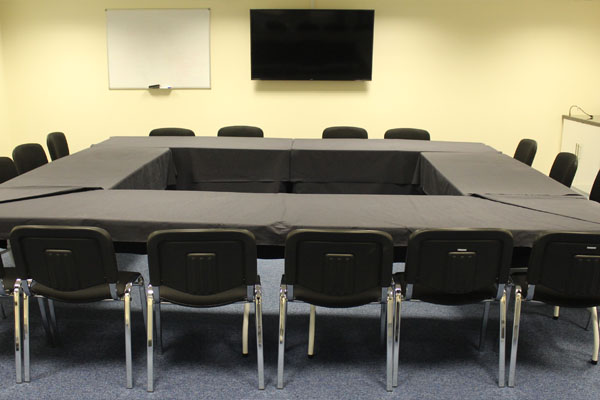 Board room with tables