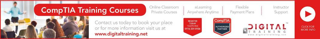 comptia training courses banner